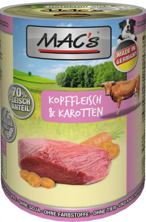 Macs Dog Kopffleisch & Karotten 400 g