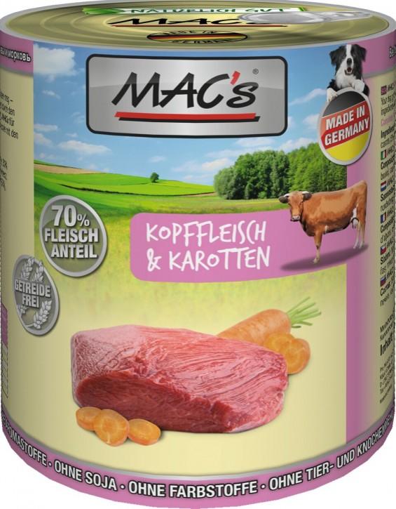Macs Dog Kopffleisch & Karotten 800 g