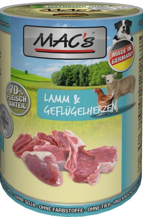 Macs Dog Lamm & Geflügelherzen 400 g