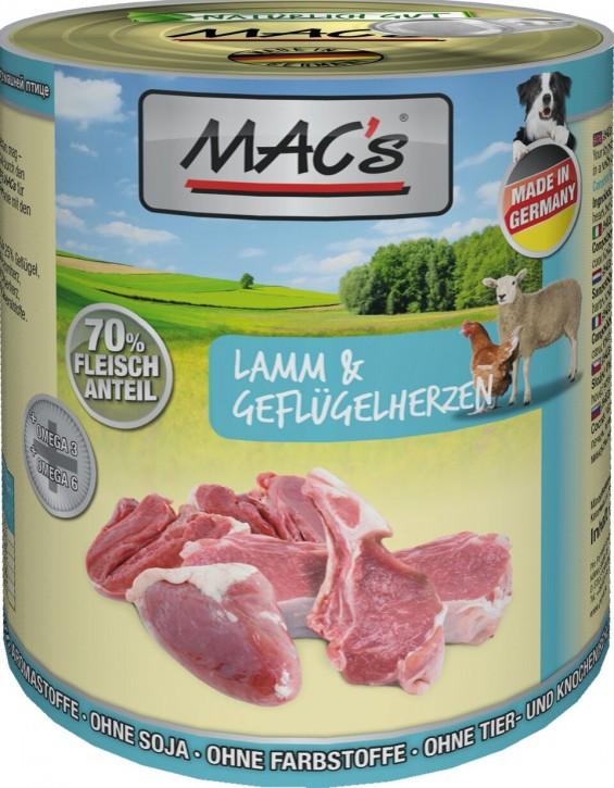 Macs Dog Lamm & Geflügelherzen 800 g