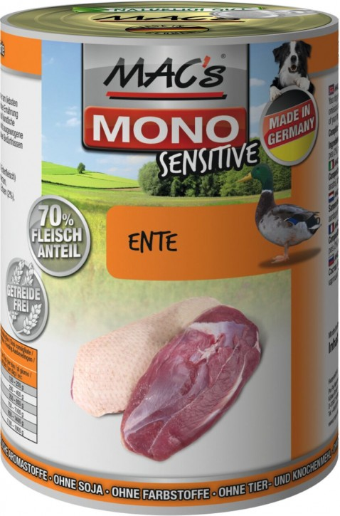Macs Dog Mono Sensitive Ente 400 g