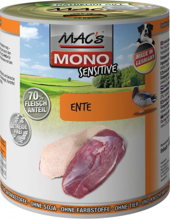 Macs Dog Mono Sensitive Ente 6 x 800 g