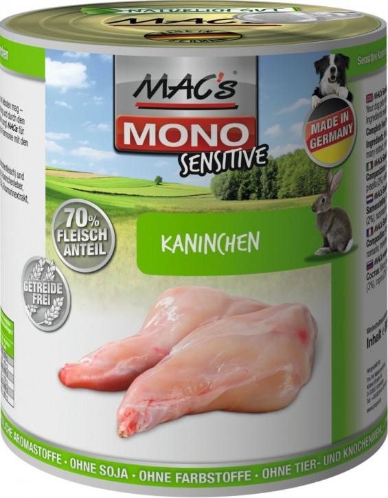 Macs Dog Mono Sensitive Kaninchen 800 g