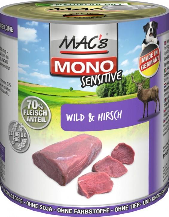 Macs Dog Mono Sensitive Wild und Hirsch 800 g