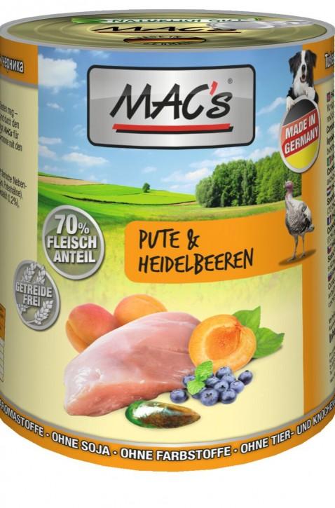 Macs Dog Pute & Heidelbeere 400 g