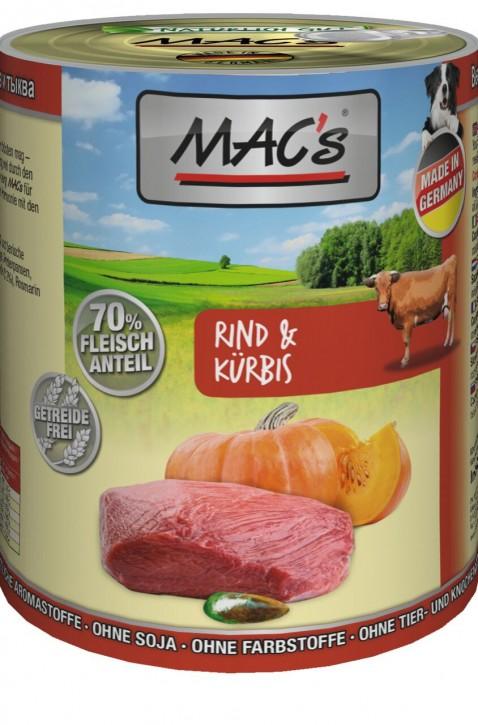 Macs Dog Rind & Kürbis 12 x 400 g