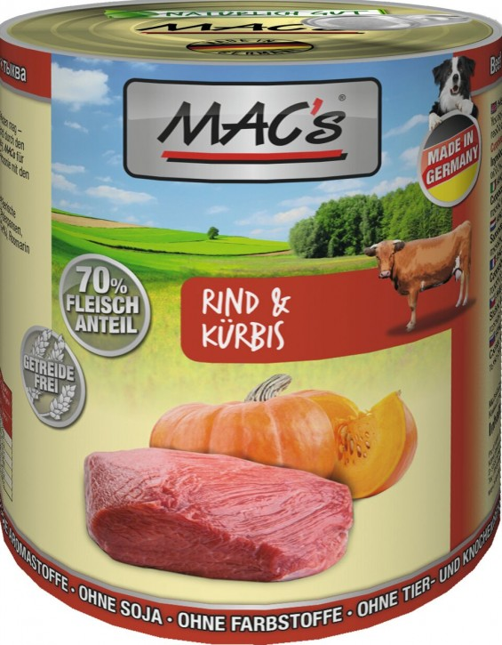 Macs Dog Rind & Kürbis 800 g