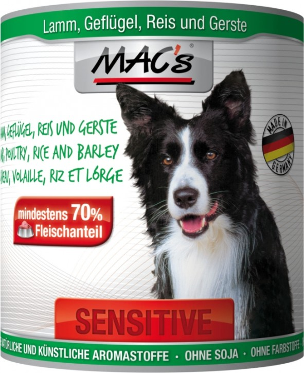 Macs Dog Sensitive Hühnchen & Lamm 800 g