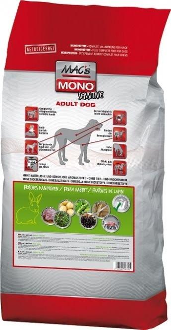 Macs Mono Sensitive mit Kaninchen 12 kg (SPARTIPP: unsere Staffelpreise)