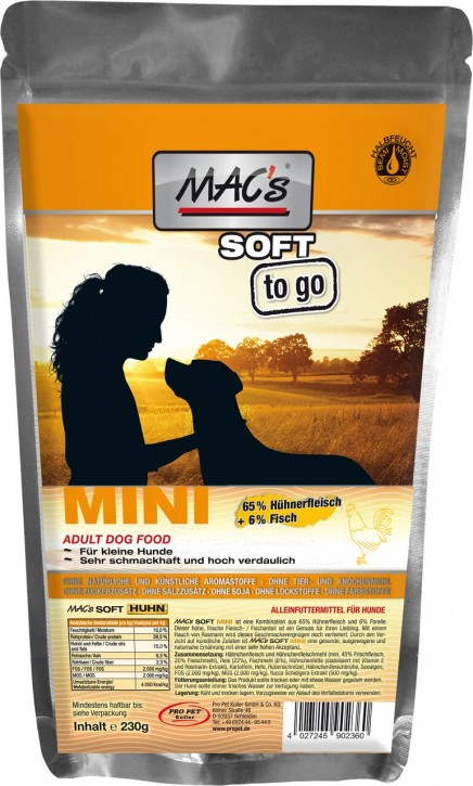 Macs Soft Mini to go mit Huhn 6 x 230 g