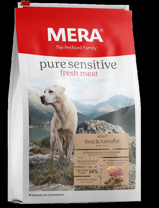 Mera pure sensitive Fresh Meat Rind und Kartoffel 4 kg oder 12,5 kg (SPARTIPP: unsere Staffelpreise)