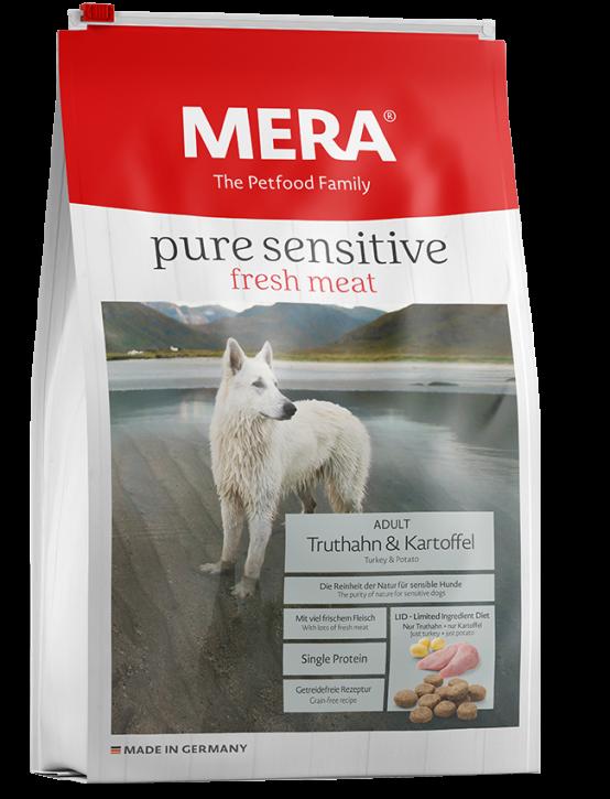 Mera pure sensitive Fresh Meat Truthahn und Kartoffel 4 kg oder 12,5 kg (SPARTIPP: unsere Staffelpreise)