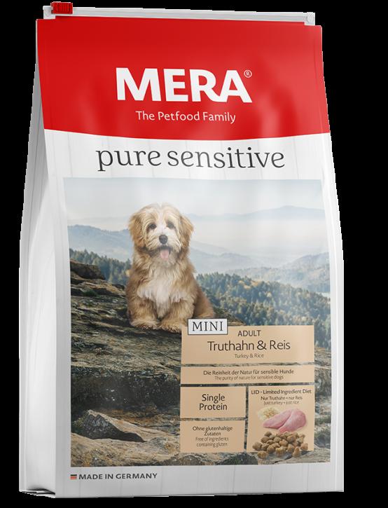 Mera pure sensitive Mini Truthahn und Reis 1 kg oder 4 kg (SPARTIPP: unsere Staffelpreise)