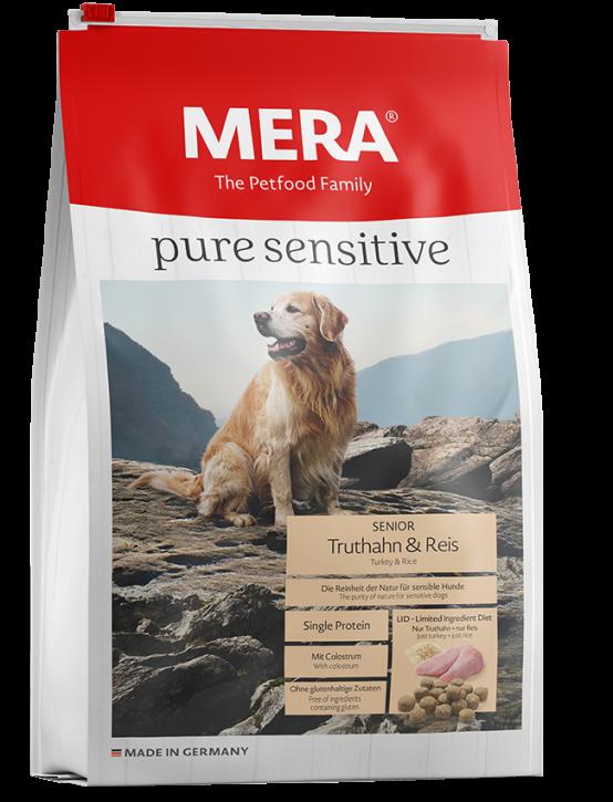 Mera pure sensitive Senior Truthahn und Reis 4 kg oder 12,5 kg (SPARTIPP: unsere Staffelpreise)
