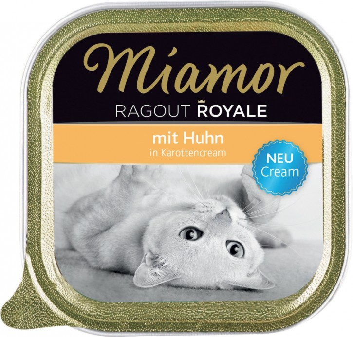 Miamor Cat Ragout Royal in Cream mit Huhn 16 x 100 g
