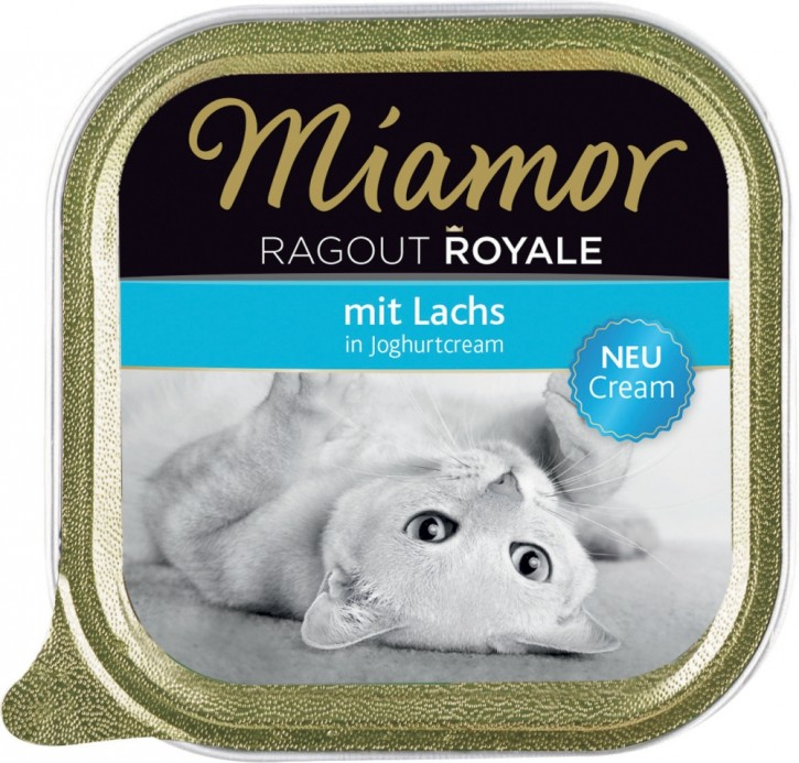 Miamor Cat Ragout Royal in Cream mit Lachs 16 x 100 g