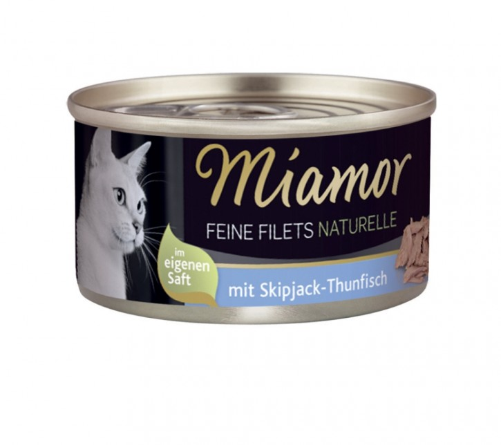 Miamor Feine Filets Naturelle mit Skipjack Thunfisch 80 g