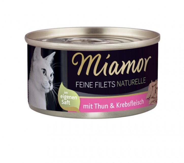 Miamor Feine Filets Naturelle mit Thunfisch und Krebsfleisch 80 g