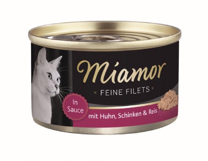 Miamor Feine Filets mit Huhn und Schinken in Sauce 100 g