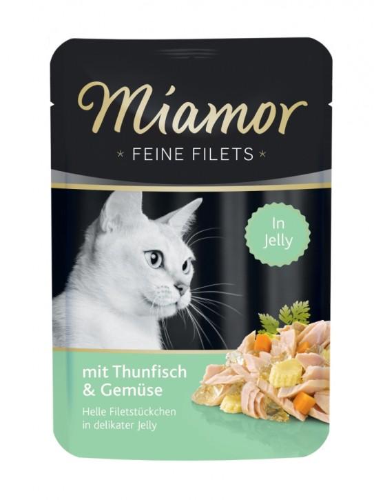 Miamor Feine Filets mit Thunfisch und Gemüse in Jelly 24 x 100 g