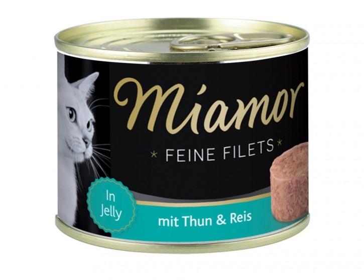 Miamor Feine Filets mit Thunfisch und Reis in Jelly 12 x 185 g