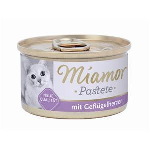 Miamor Fleischpastete mit Geflügelherzen 85 g