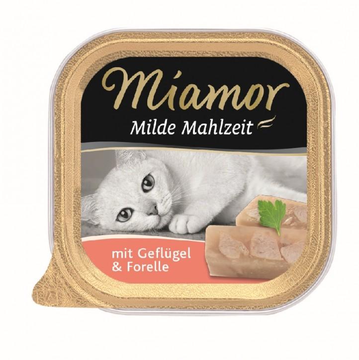Miamor Milde Mahlzeit mit Geflügel und Forelle 16 x 100 g