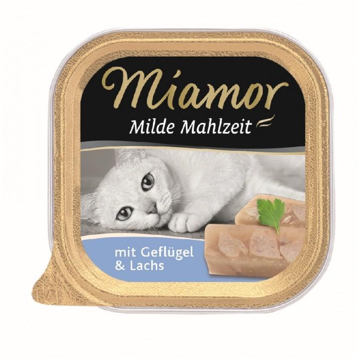 Miamor Milde Mahlzeit mit Geflügel und Lachs 16 x 100 g