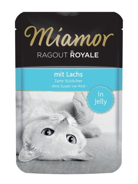 Miamor Ragout Royal mit Lachs in Jelly 22 x 100 g