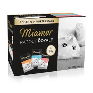 Miamor Ragout Royal mit Pute, Lachs und Kalb in Jelly Multipack 48 x 100 g