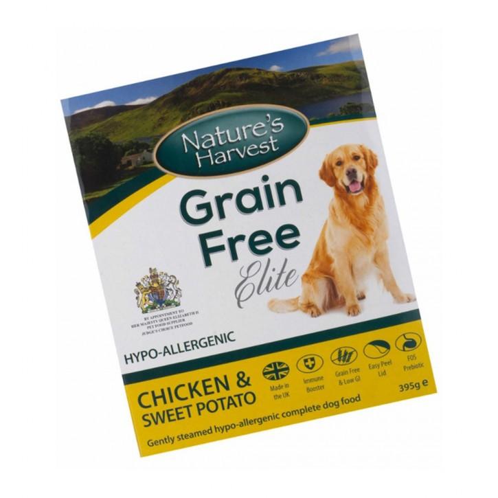 Natures Harvest Grain Free Elite Hühnchen und Süßkartoffel 395 g