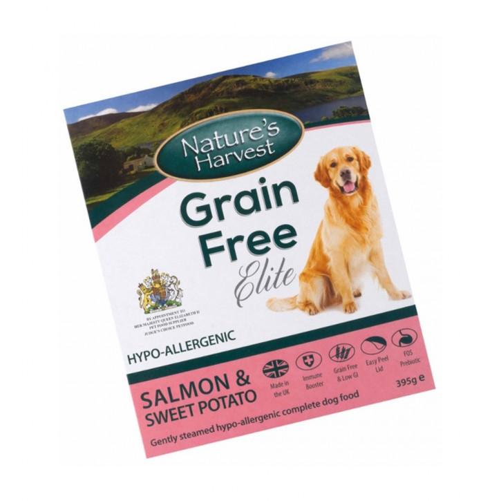 Natures Harvest Grain Free Elite Lachs und Süßkartoffel 395 g