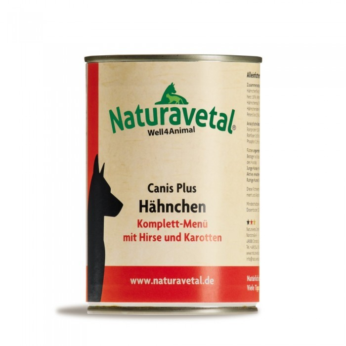 Naturavetal Canis Plus Hähnchen Komplett Menü 410 g oder 820 g