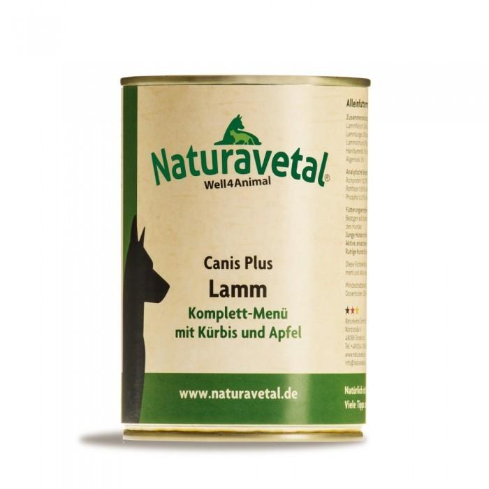 Naturavetal Canis Plus Lamm Komplett Menü 410 g oder 820 g