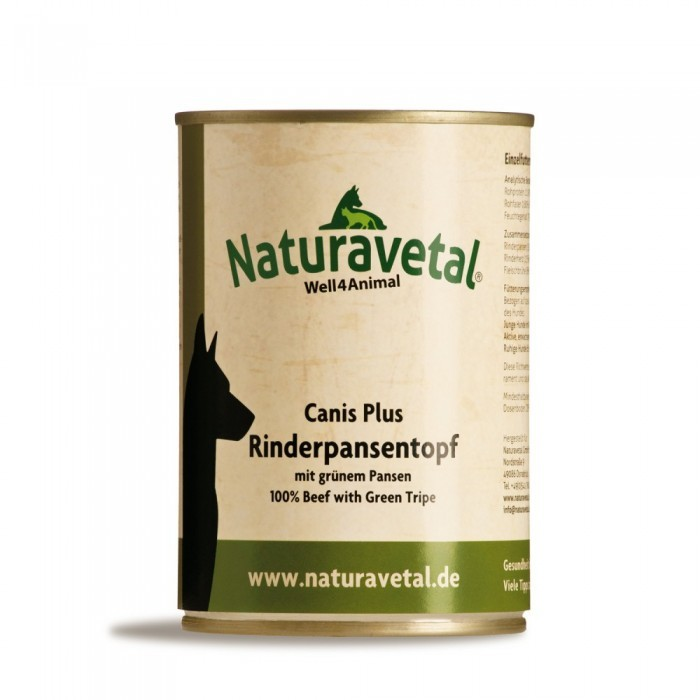 Naturavetal Canis Plus Rinderpansentopf 410 g oder 820 g