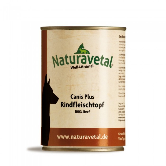 Naturavetal Canis Plus Rindfleischtopf 12 x 410 g