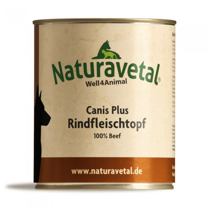 Naturavetal Canis Plus Rindfleischtopf 12 x 820 g