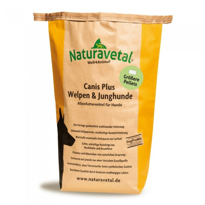 Naturavetal Canis Plus Welpen & Junghunde größere Pellets 5 kg oder 15 kg (SPARTIPP: unsere Staffelpreise)