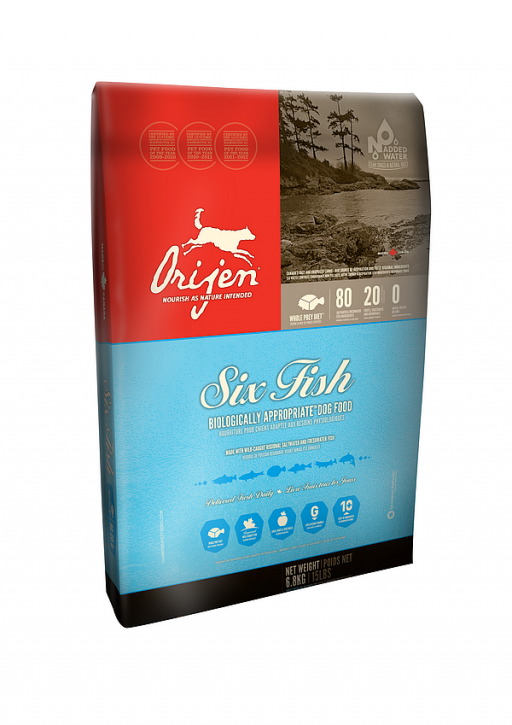 Orijen Dog Adult 6-Fish Whole Prey 2 kg, 6 kg oder 11,4 kg (SPARTIPP: unsere Staffelpreise)