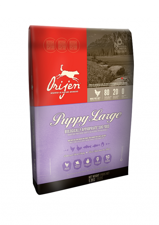Orijen Dog Puppy Large Breed Whole Prey 2 x 11,4 kg (Staffelpreis)