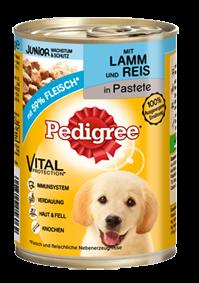 Pedigree Junior mit Lamm und Reis 12 x 400 g