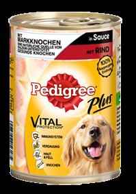 Pedigree Plus mit Markknochen und Rind in Sauce 12 x 400 g