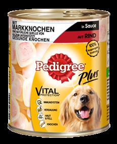 Pedigree Plus mit Markknochen und Rind in Sauce 12 x 800 g