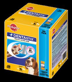 Pedigree Snack Dentastix Big Pack für mittelgroße Hunde 56 Stück