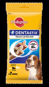 Pedigree Snack Dentastix für mittelgroße Hunde 10 x 7 Stück