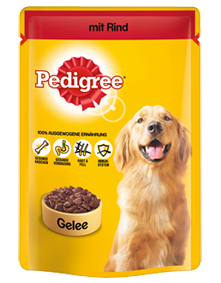 Pedigree mit Rind in Gelee 24 x 100 g