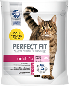 Perfect Fit Cat Adult reich an Lachs 750 g oder 1,4 kg (SPARTIPP: unsere Staffelpreise)