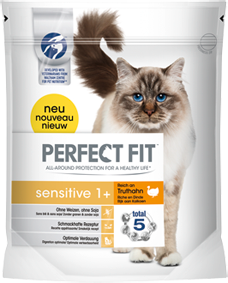 Perfect Fit Cat Sensitive reich an Truthahn 750 g oder 1,4 kg (SPARTIPP: unsere Staffelpreise)