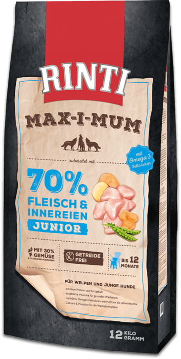 Rinti Max-i-mum Junior 4 x 12 kg (Staffelpreis)