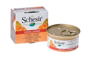 Schesir Cat Thunfisch mit Papaya 24 x 75 g